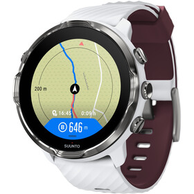 Suunto 7 Sport Watch, white burgundy
